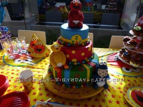 a tasty 2 year old sesame street birthday cake