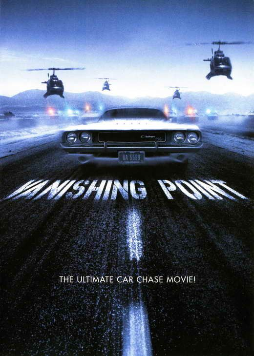 Vanishing Point (1971) Thrills, spills... and a handful of pills. It all adds up to one of the most spectacular car chases in motion picture history! Barry Newman stars as Kowalski, the last American