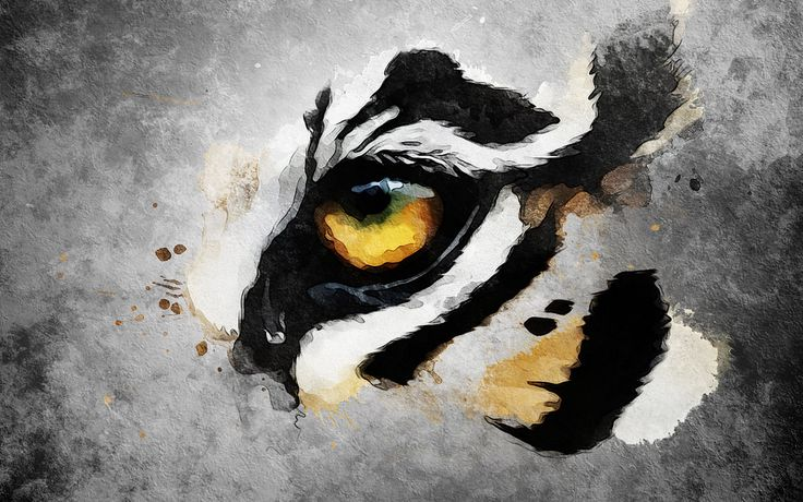 watercolor tiger tattoo - Google Search