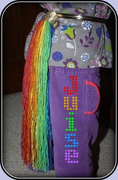 Juise: Make a Rainbow Tail, perfect rainbow dash tail! Unicorn party