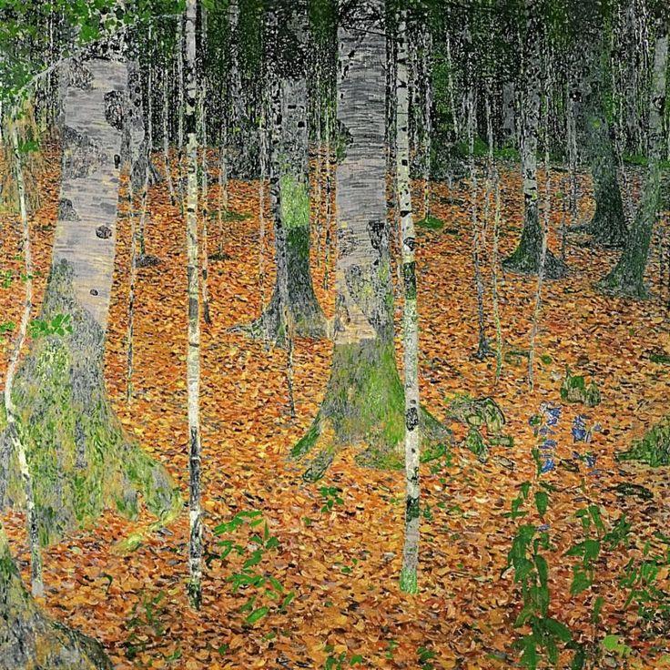 Reproduction Peinture SUR Toile Gustav Klimt Forêt DE Bouleaux Neuf | eBay