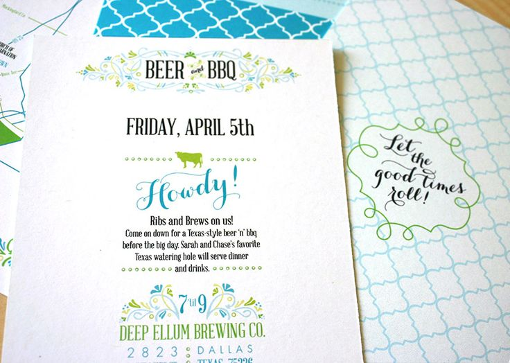 green turquoise garden party wedding invitations