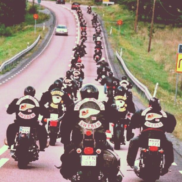 Hells Angels Motorcycle Ride
