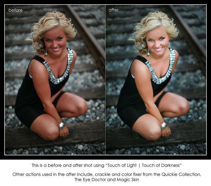 FREE PHOTOSHOP ACTION - Get it here! Touch of Light   Touch of Darkness