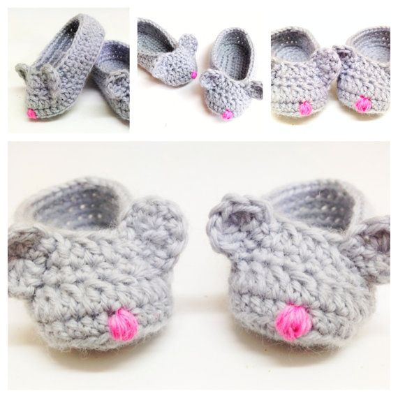 Frank&Olive Mouse Slippers PATTERN New от FrankandOliveCrochet