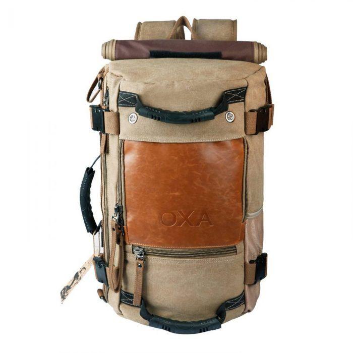 Atractiva bolsa de viaje convertible en mochila.