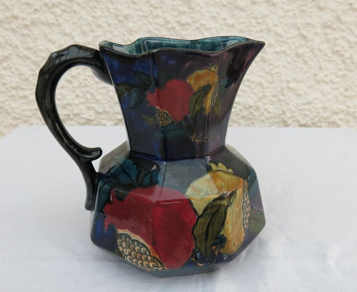 Vintage Art Deco Jug - Rubens Ware 'Pomegranate' by S Hancock & Sons, Staffordshire by WestCoastChinaDoll on Etsy
