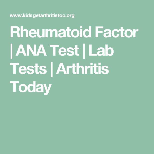 Rheumatoid Factor | ANA Test | Lab Tests | Arthritis Today