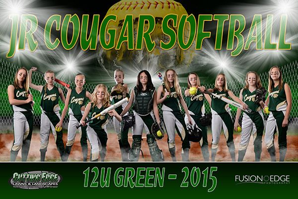jr cougar 12u softball team banner