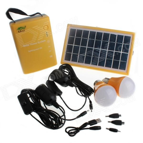 Lovely YuanBoTong D Multi functionele V mAh Solar Power Home System w LED