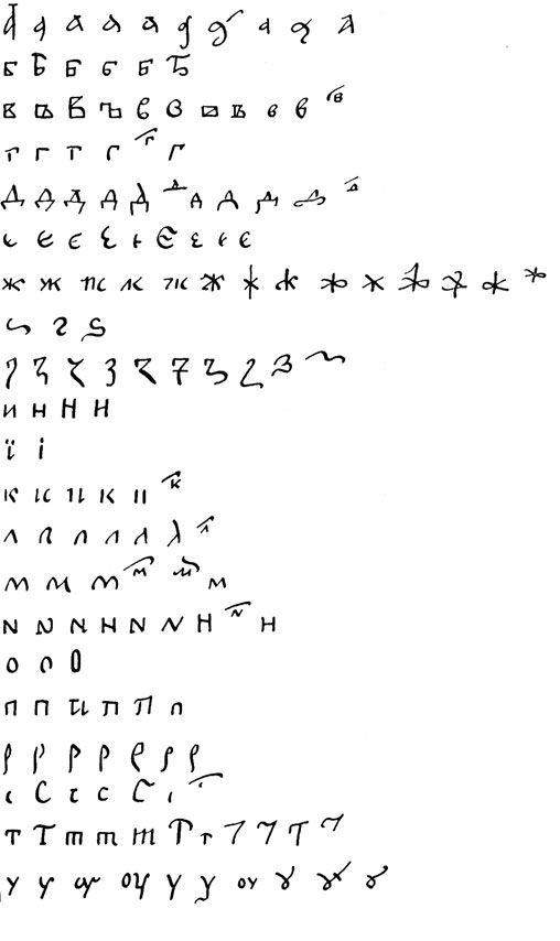 Русское письмо и каллиграфия - Скоропись Древнерусская