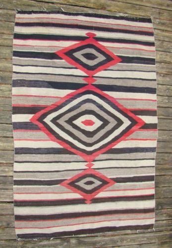 Large Antique Native American Indian Navajo Rug Navaho Blanket Stripes Ebay