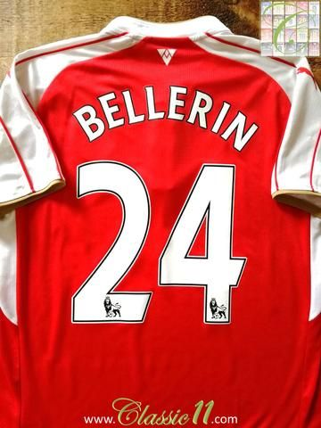 Official Puma Arsenal home football shirt from the 2015/2016 season. Complete with Bellerin #24 on the back of the shirt in Premier League lettering.