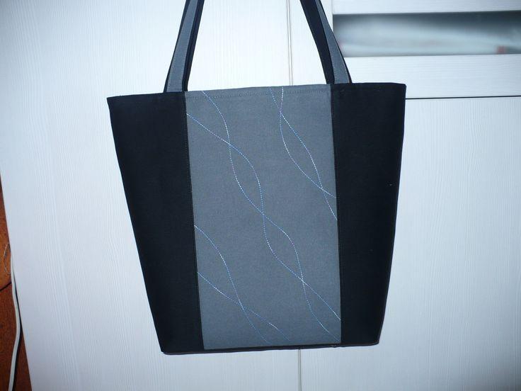 Medium size handbag - Black&Grey