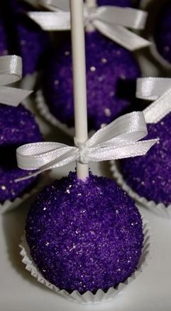 Royal Purple Chocolate Cake Pops …