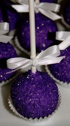 Royal Purple Chocolate Cake Pops                              …