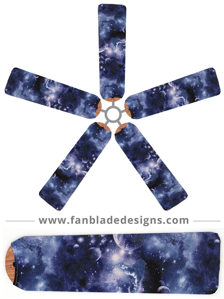 Send your little astronomers to bed with stars in their eyes. The Outer Space design on our Fan Blade Designs will have them dreaming of the Milky Way and the Big Dipper. When they want a fresh perspe