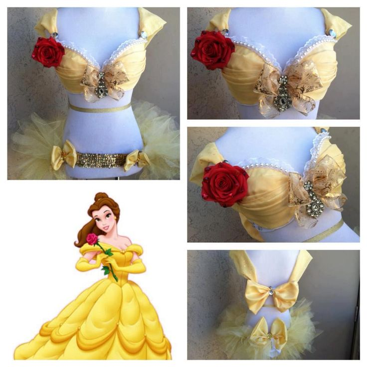 Disney Belle rave outfit
