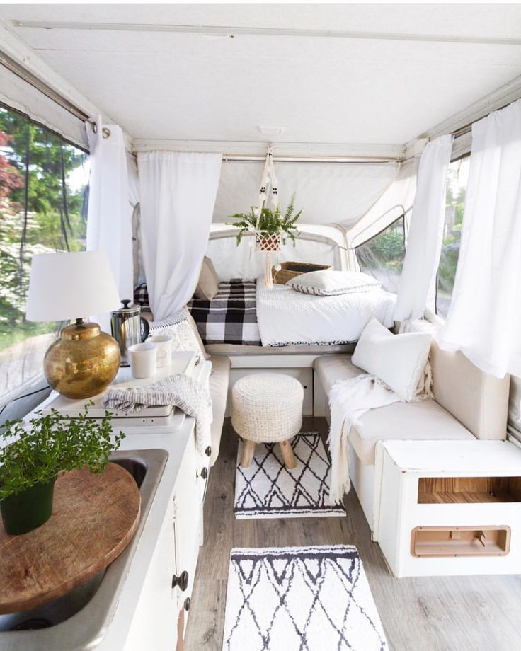 "Beddy's® (bed•ease) on Instagram: ""Ok I might take up camping if I could stay here! Can you believe this is a pop up trailer? (It's cuter than my house!) @zevyjoy is…"""