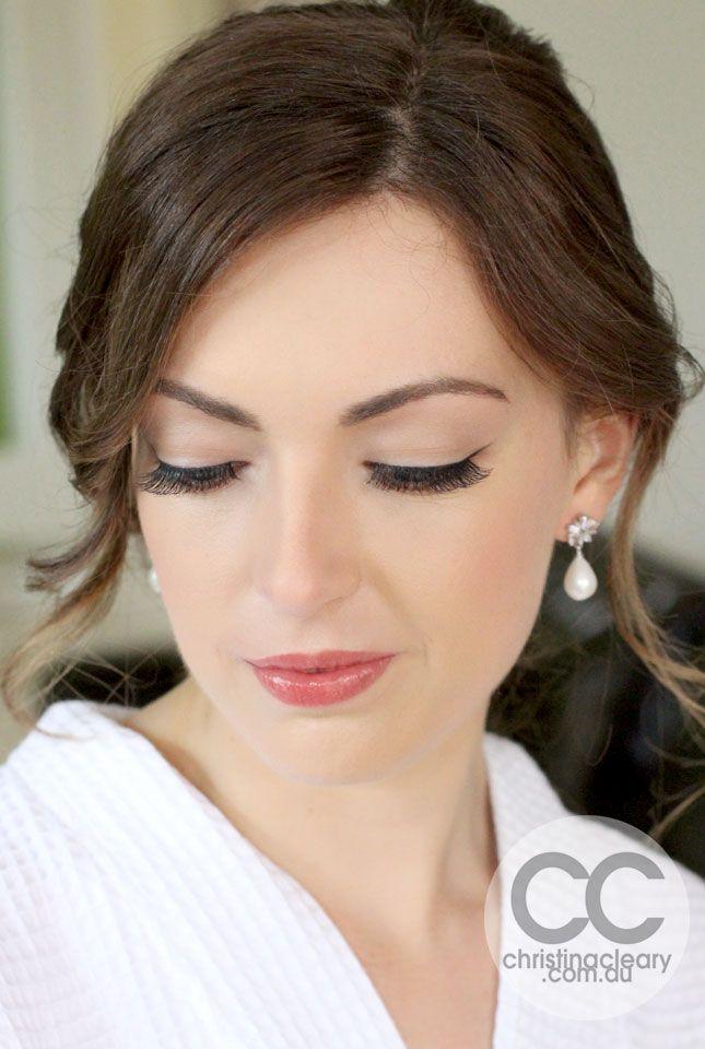 Perfect Skin, Black eyeliner, Winged eyeliner, False eyelashes, Gorgeous Makeup, Vintage Makeup, Vintage Bride, Stunning Makeup, Bridal, Weddings | MAKEUP + PHOTOGRAPHY CHRISTINA CLEARY
