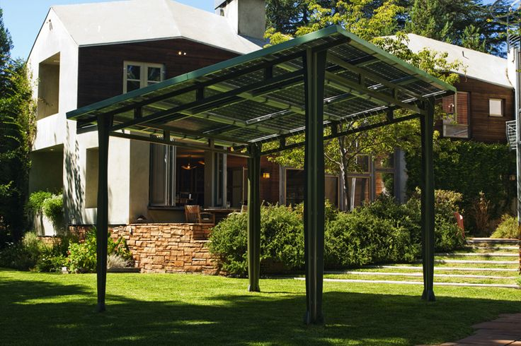 solar patio cover. Cover part of the deck with this and get shade and lower the energy bill. oh yeah
