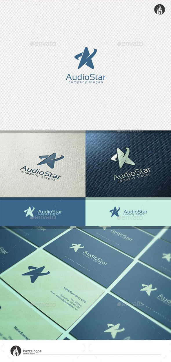 Groovy Audio Star Logo PSD Template • Only available here ➝ http://graphicriver.net/item/audio-star-logo/11386845?ref=pxcr