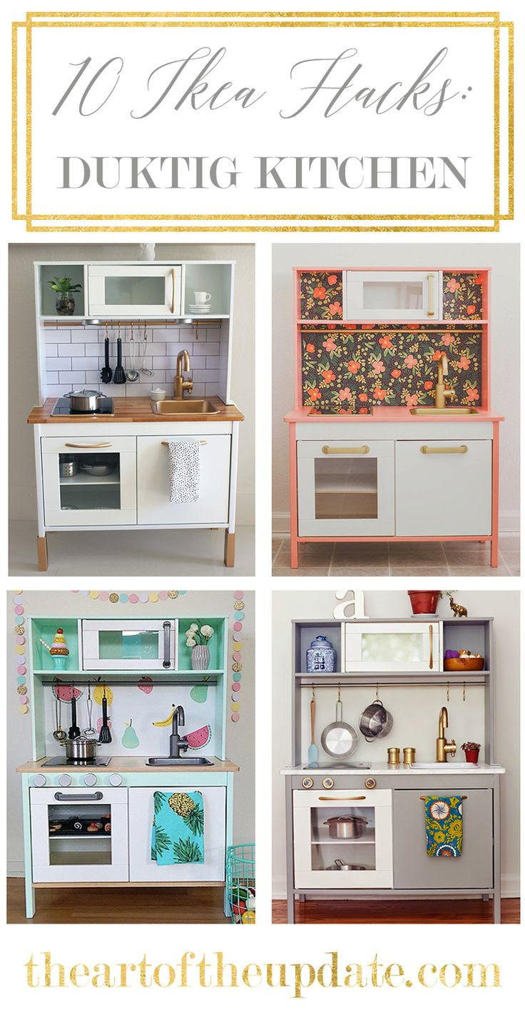 10 IKEA DUKTIG Play Kitchen Hacks | The Art of the Update | theartoftceupdate.com