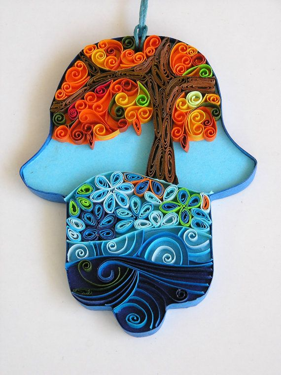 Hamsa home blessing by Paperila on Etsy, ₪130.00
