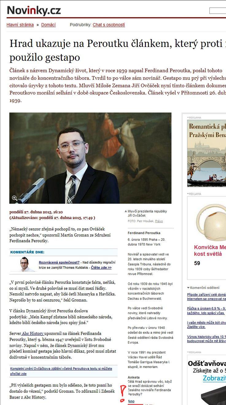 Novinky.cz ze dne 27. 4. 2015 s odkazem na články ze serveru abcHistory.cz