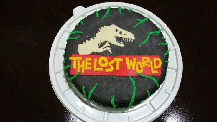 Pastel de Jurassic World Decoración  de pasta de almendra