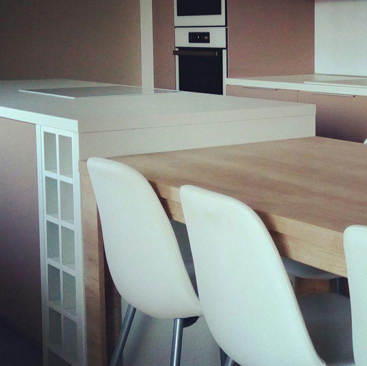 Kitchen white chairs