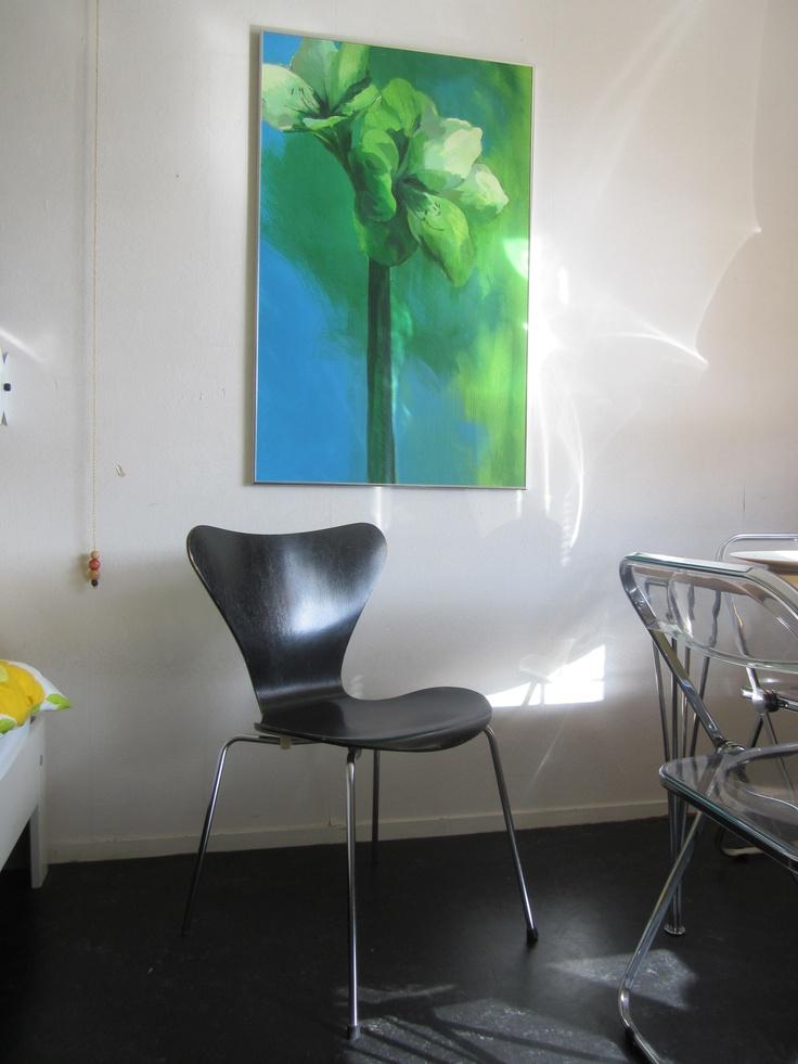 Serie 7 Arne Jacobsen chair (Fritz Hansen 1982) Painting: Elsbeth Veerman www.elsbethveerman.nl