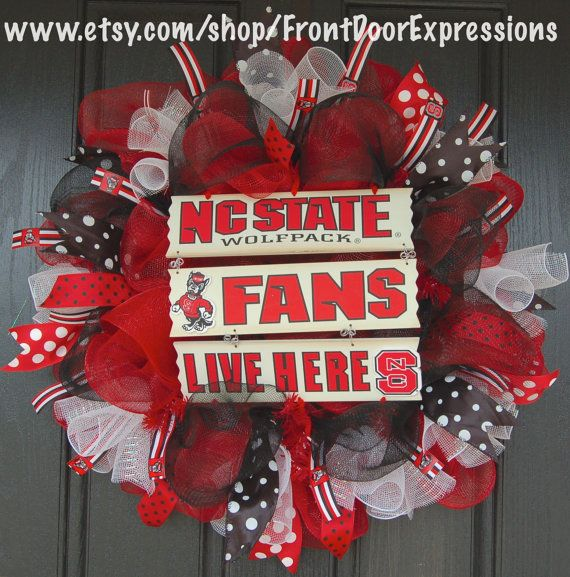 NC State Wolfpack Wreath
