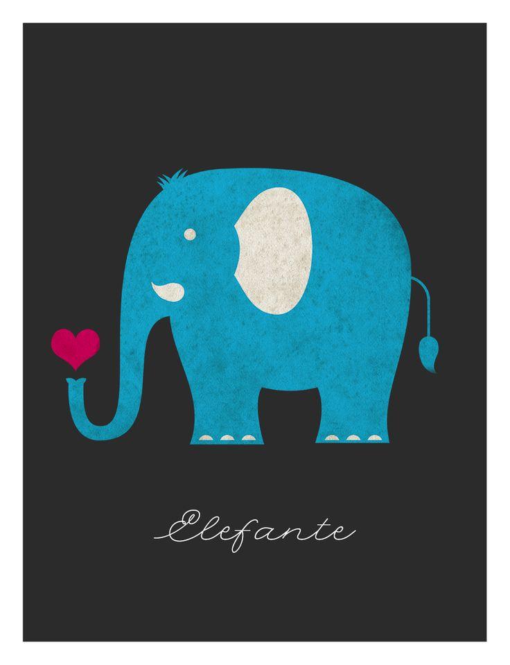 """Illustrazione per il libro """"Morti favolose di animali comuni"""" di Renato Polizzi, Caracò Editore. Versione colorata dell'Elefante. Carmine Luino 2014 ©"""