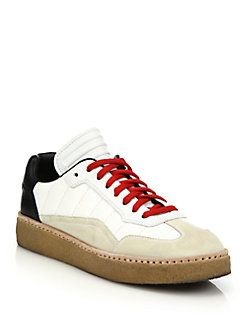 Alexander Wang - Eden Leather & Suede Low-Top Sneakers