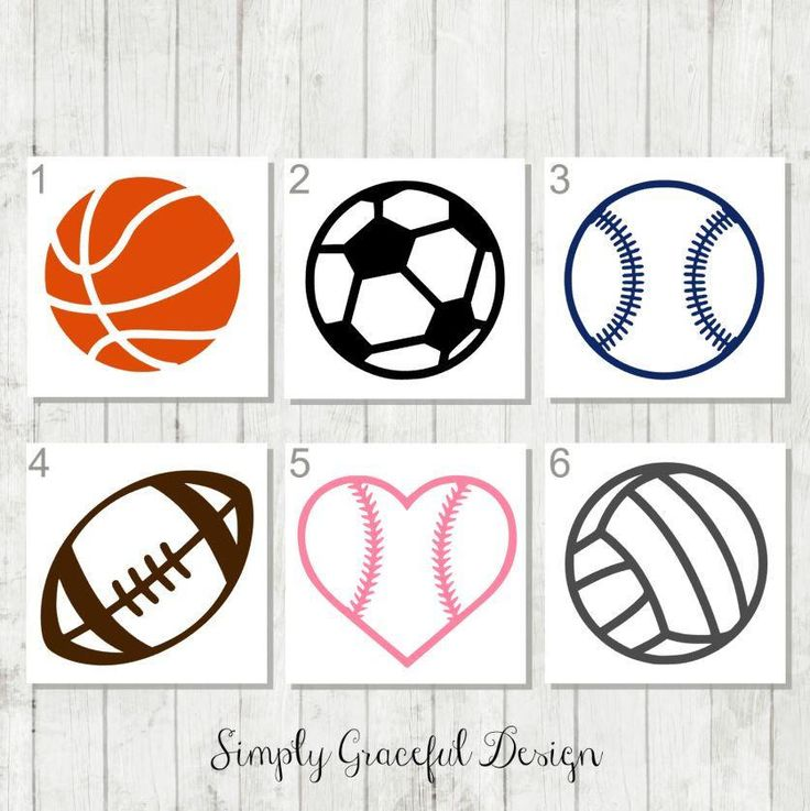 Sports Ball Decal - Sports Helmet Decal - Sports Team Gifts - Gift for Sports Coach - Sports Tumbler Decal - Team Sports Decal - Sports Ball by SimplyGracefulDesign on Etsy