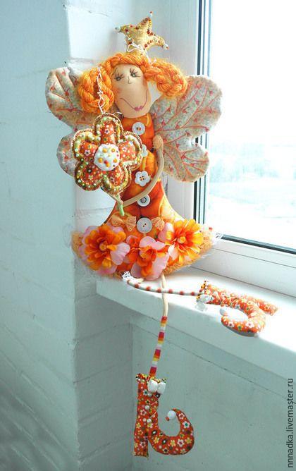 Коллекционные куклы ручной работы. orange Дуся принцессная. Бурдакова Надя. Ярмарка Мастеров. Кукла в подарок, кукла текстильная