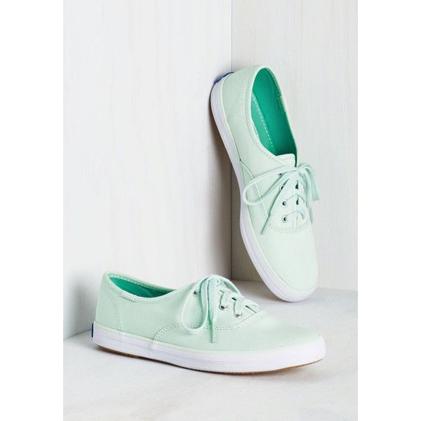 Keds Pastel Very Important Skate Sneaker ($45) ❤ liked on Polyvore featuring shoes, sneakers, canvas sneakers, canvas shoes, keds, mint green sneakers and pastel shoes