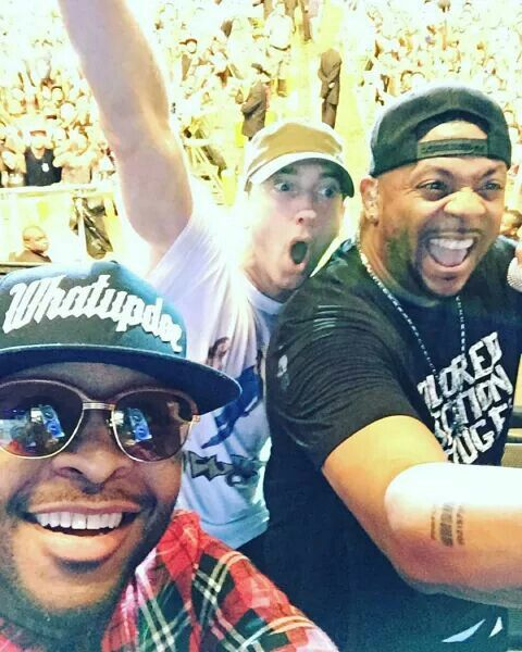 "Selfie posted by Royce Da 5""9 on insragram after the Eminem performance to the Lollapalooza."