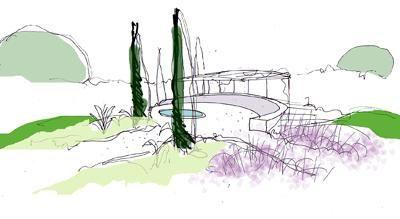 dibujo jardines diseño 09