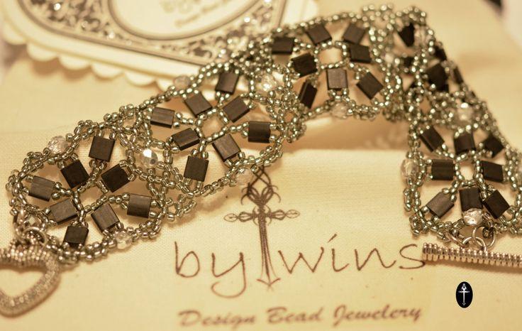 Handmade Beadwork Tila matte bracelet by BYTWINS on Etsy