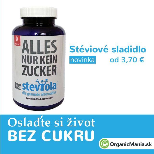 Stéviové sladidlo v organic kvalite a z Rakúska :) 0% cukru a kalórií.   Už od 15.5.2015 na www.OrganicMania.sk  #organicmania #stevia