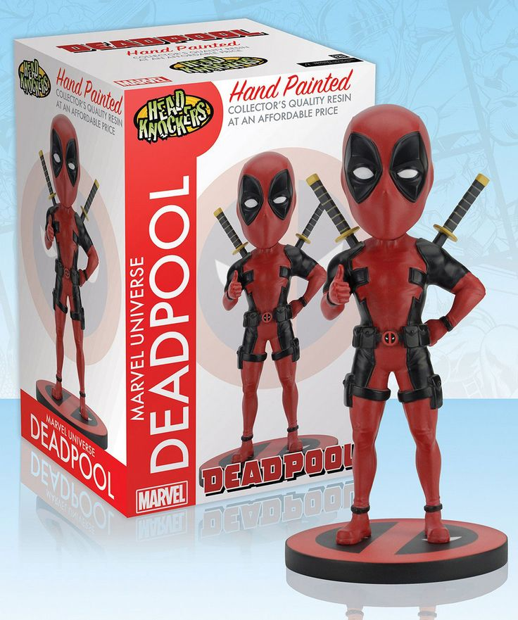 AKČNÉ FIGÚRKY | Marvel Comics Head Knocker Bobble-Head Deadpool Classic 20 cm | Funtastic.sk - spoločenské hry, knihy, komiksy, figúrky.