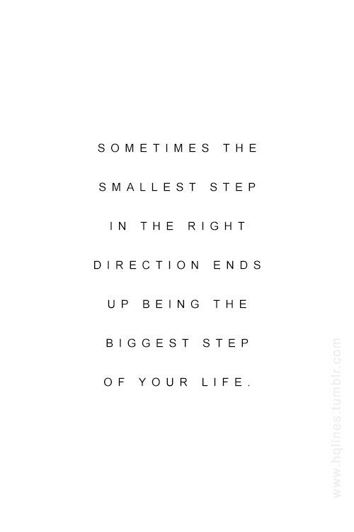 step in the right direction//