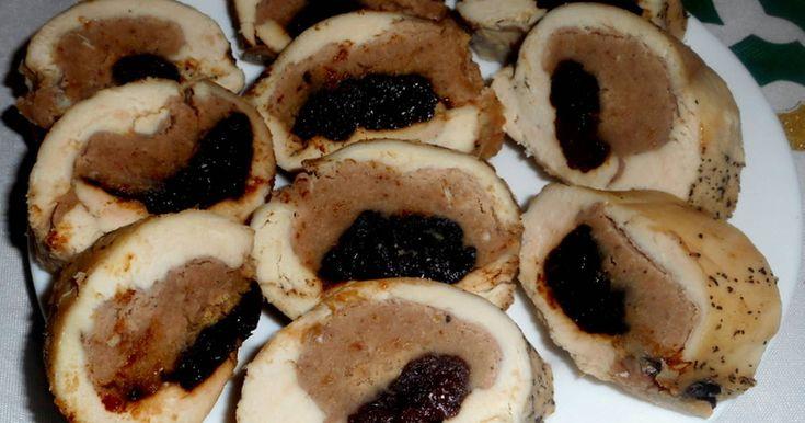 Mennyei Gesztenyével,aszalt szilvával töltött csirke recept! Nagyon finom ünnepi menü. Minden Karácsonykor elkészítem.