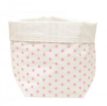 ... im Kinderzimmer stilvoll und praktisch Weisses Utensilo mit rosa