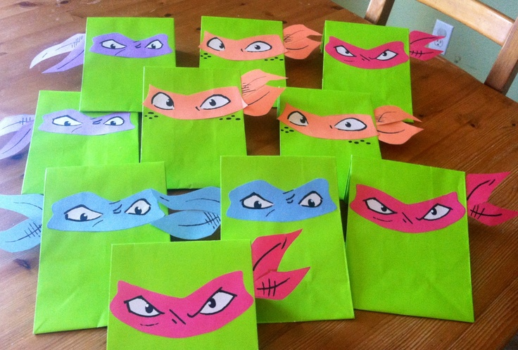 HOMEMADE NINJA TURTLE GIFT BAGS! | BIRTHDAY/ HOLIDAY DECORATIONS ...