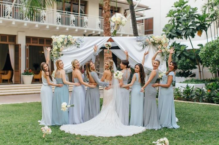 Actors Kelly Kruger and Darin Brooks Had a Gorgeous Wedding in Hawaii | Photo by: Aria Studios, LLC | TheKnot.com