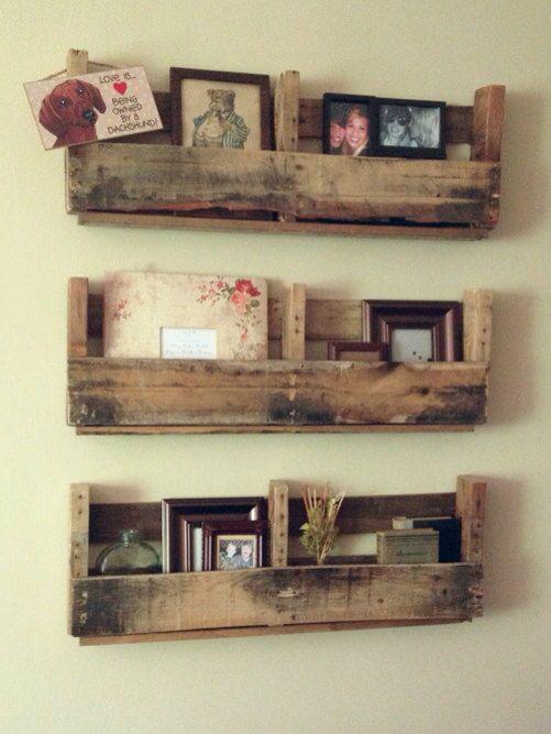 Rustic palette shelves by ShabbySheekShop on Etsy, $100.00