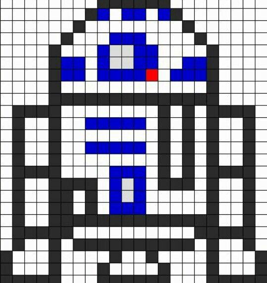 R2 D2 Sprite Grid Creaciones Hama Beads Pinterest